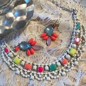 H&M candy jewelry earrings choker set